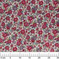 Fabric Lecien -  big flowers cherry Violet x10cm