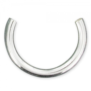 half Ring base  Sterling Silver 925 (Big size) x1