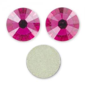 6mm self adhesive rhinestones fuchsia