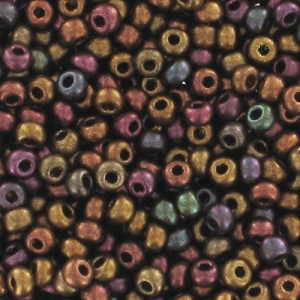 Mini Seed beads 2mm Metallic Iris Satin x10g