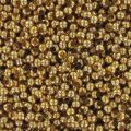 Metal seed beads 15/0 24K Gold plated x10g