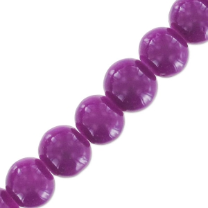 Beads imitation gemstone 6 mm Amethyst x130