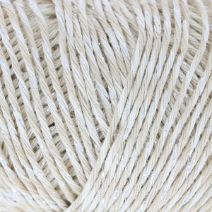 Wool Fashion Twisted cotton Glitz Dk Beige x 50g