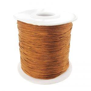 Braided nylon thread 0.8mm Terracotta x120m