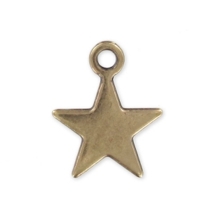 Star charm 15mm Bronze tone x1