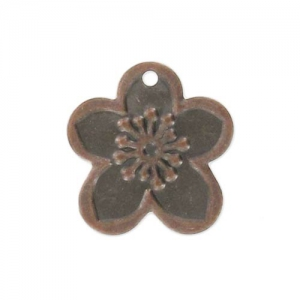Light Charms flowers 16mm Old Copper tone x10