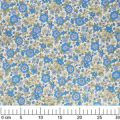 Fabric Lecien -  big flowers Blue x10cm