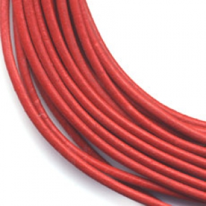 Leather cord 3mm Red x 1m