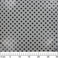Coated Fabric Polka dot - Black/Grey x10cm