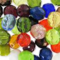 Fire polished faceted round beads assortment 10mm x50