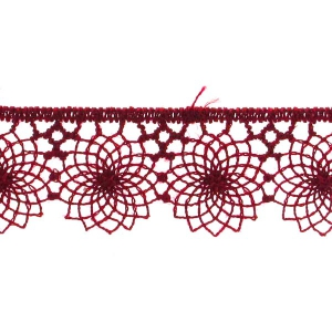 embroidered tulle 16mm Bordeaux x1m