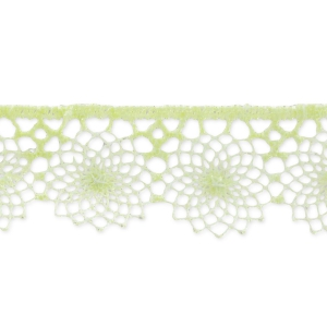 embroidered tulle 16mm light green x1m