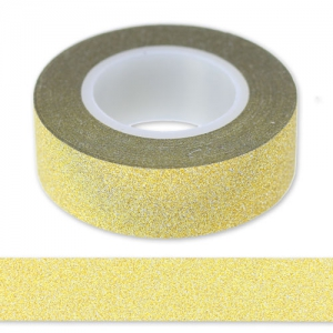 Adhesive tape with glitter 15 mm Gold x9m