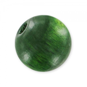 Wooden round beads 10mm green x10