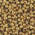 Metal seed beads 11/0 24K Gold plated x10g