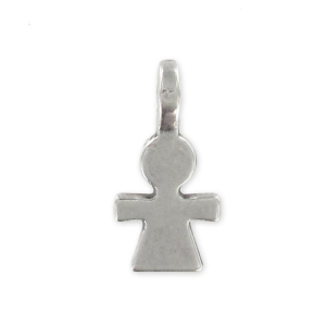 charm 15mm Old silver tone x1