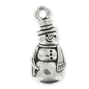 charm snowman 23mm Old Silver tone x1