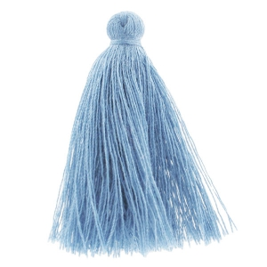 Tassel in cotton imitation 43-46 mm Blue Jean x1