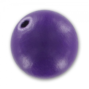 Wooden round bead 20 mm Purple x 1