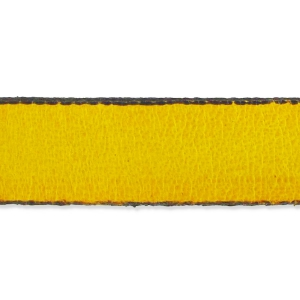Leather lace 10mm Yellow x30cm
