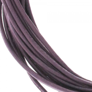 Leather cord 0,8mm Cyclamen x 2.95m