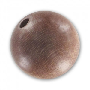 Wooden round beads 15mm Taupe x5