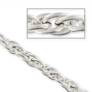 Chain oval links 11mm Old silver tone x1m