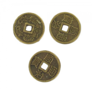 Chinese money Spacers Spacers 10 mm Bronze tone x25