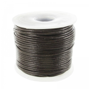 Leather cord 0,8mm Brun x 25m