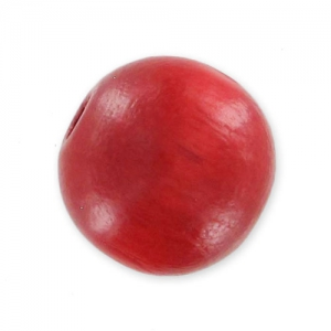 Wooden round beads 8mm Red x20