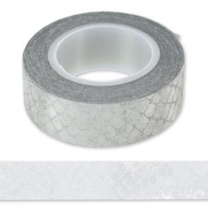 Adhesive tape with glitter  15 mm snake Silver x9m