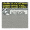 Assortment of origami paper sheets 7.5x7.5 cm  black/white geometric x