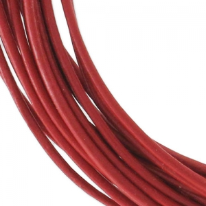 Leather cord 0,8mm Rouge x 2.95m