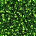 Seed beads 2,5mm  Dark Peridot Silver Lined x10g