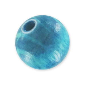 Wooden round beads 8mm Peacock Blue x20