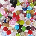 Fire polished faceted round beads assortment 8mm x100