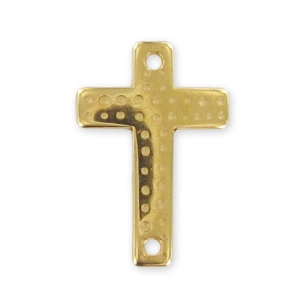 spacer cross 2 holes 22x15mm Gold tone x1