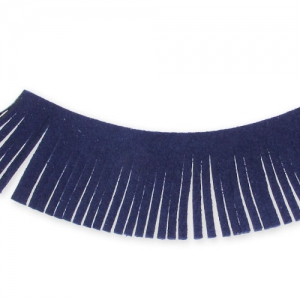 Ultra Suede Ribbon fringes  28mm Navy blue x1,6m