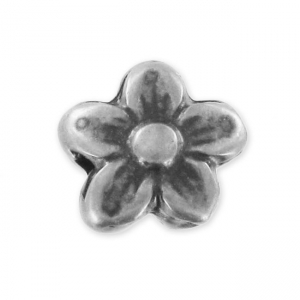 Flower 10x9mm Old Silver tone x1