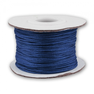 Braided nylon thread 0.8mm dark blue x50m