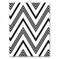 Wool felt rectangle chevron 1.5mm 30,5x22,9cm blackx1