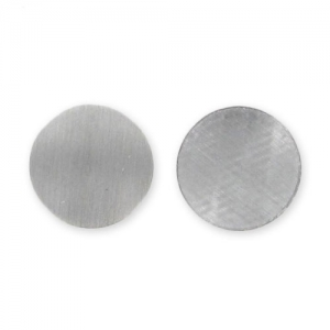 Metal Hotfix rounds 6mm Mat Silver tone x48