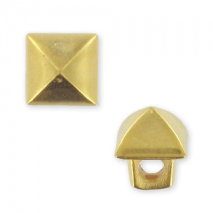button square CCB 6,5 mm gold tone mat x1