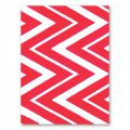 Wool felt rectangle chevron 1.5mm 30,5x22,9cm Hot Pink x1