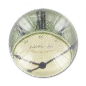 Magnifying cabochon 20mm Clock x1