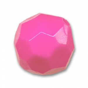 Round faceted bead 14mm Hot Pink x1