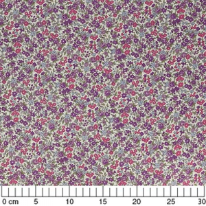 Fabric Lecien -  little Flower Pink Violet x10cm