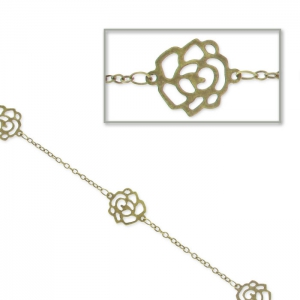 Chain flowers 1.8mm Bronze tone x 1m