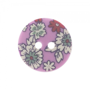 Decorated Button Lecien 18mm Pink x1