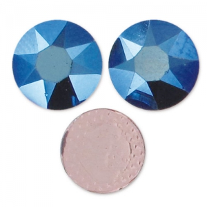 Swarovski Hotfix rhinestones 7mm Crystal Metallic Blue x12